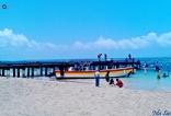 Puerto en Isla Saona.