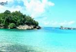 Playa Caletón desde las costas de Río San Juan, en el Océano Atlántico.